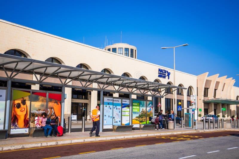 马耳他,国际机场 免版税库存照片