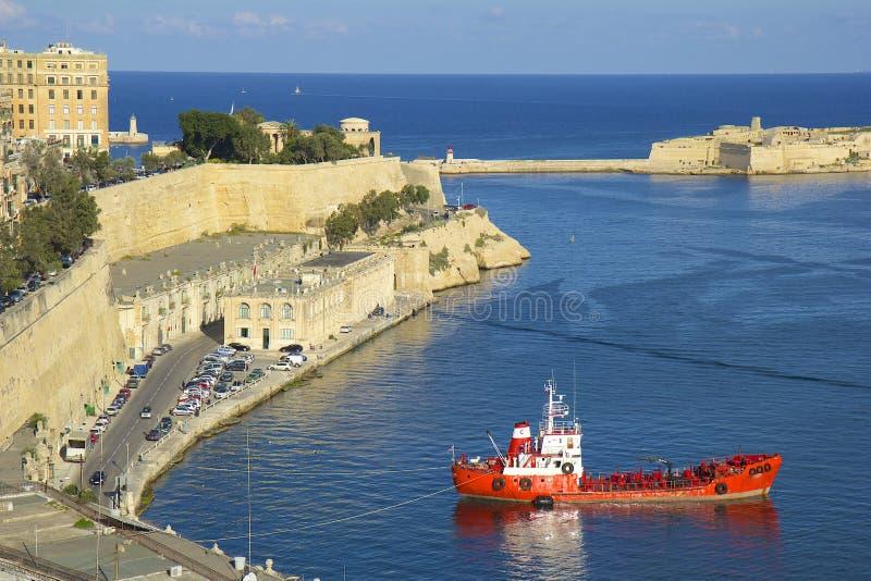 马耳他全景瓦莱塔 库存照片
