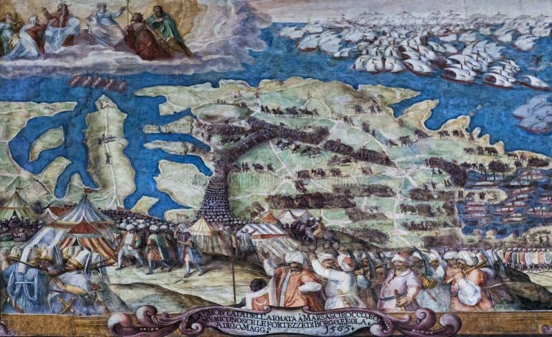 马耳他巨大围困1565 库存照片