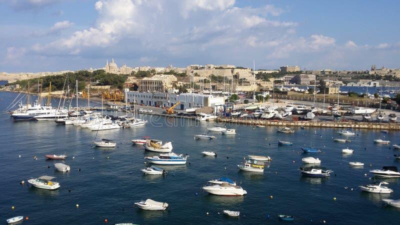 马耳他斯利马海湾 免版税库存照片