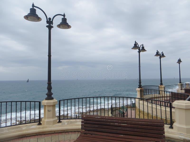 马耳他海岛沿海岸区  免版税图库摄影