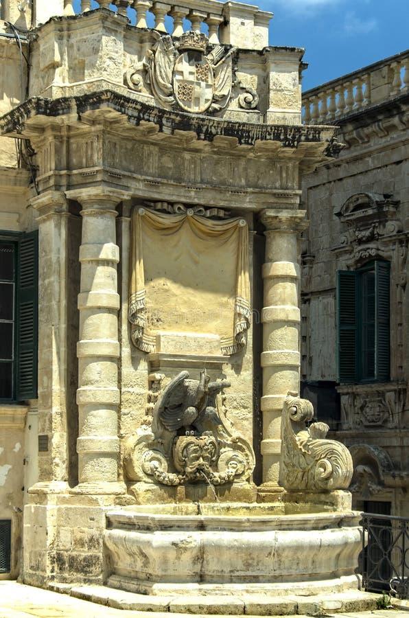 马耳他,瓦莱塔看法  库存照片
