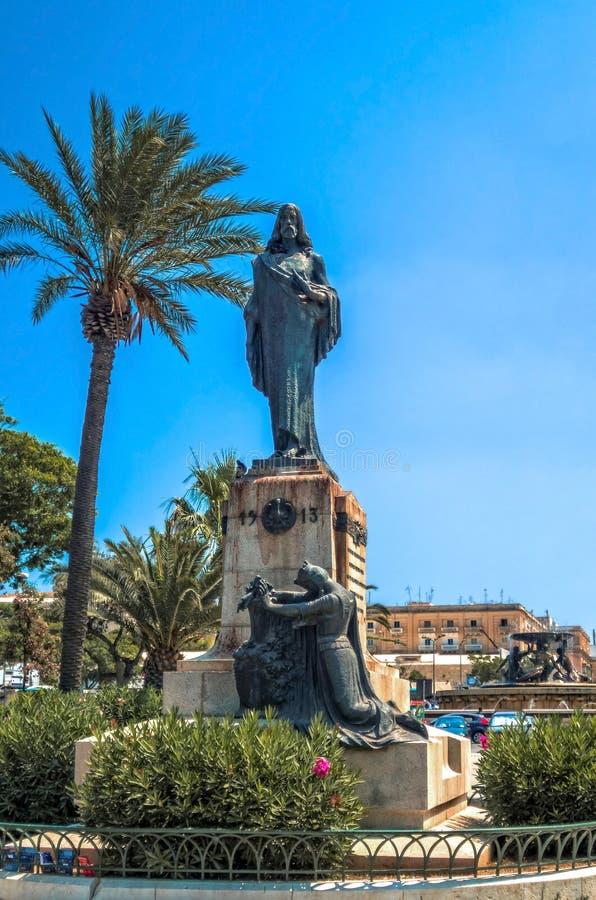 马耳他- Floriana看法  库存照片