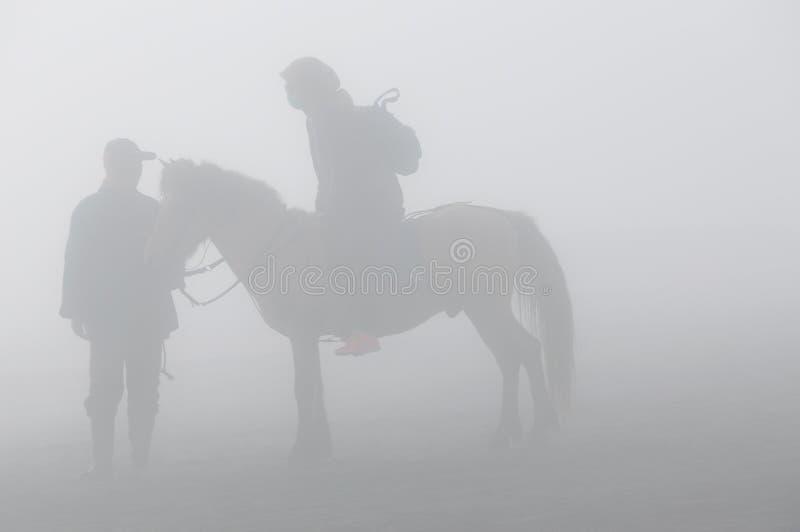 马背乘驾的Silhoutte 图库摄影