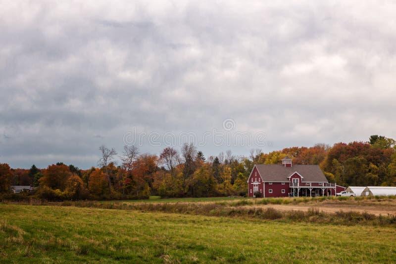 马萨诸塞州秋风 库存图片