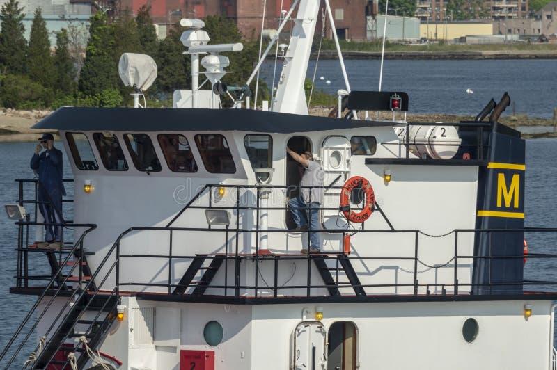 马萨诸塞海学院训练船别动队员桥梁  免版税库存照片