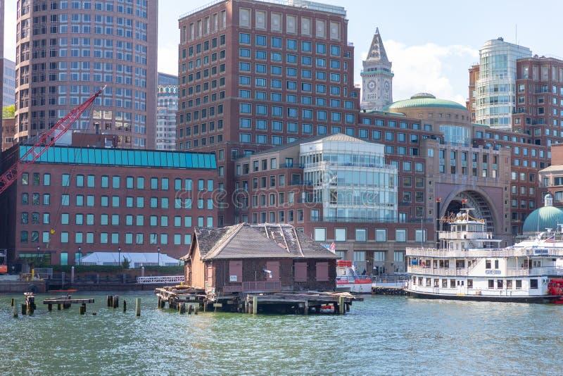 马萨诸塞湾的老房子 图库摄影