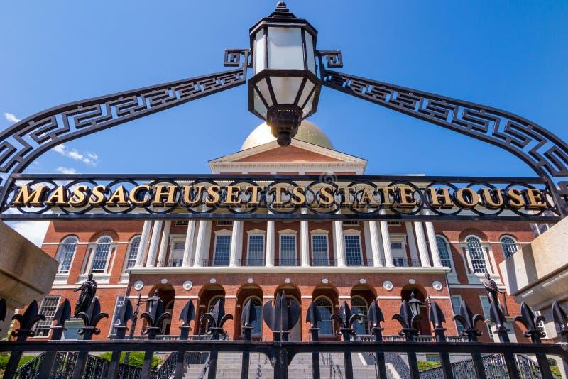 马萨诸塞状态议院在波士顿 免版税库存照片