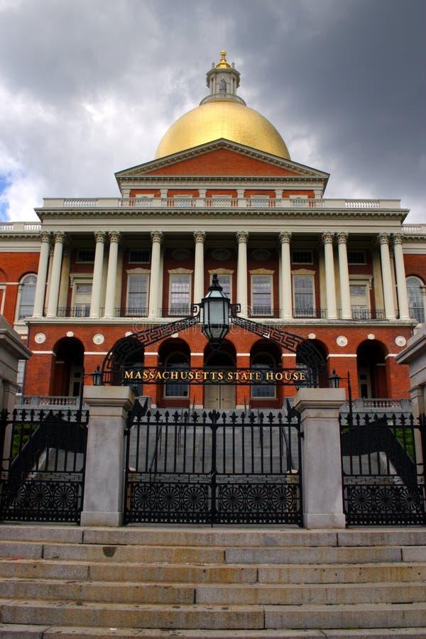 马萨诸塞状态议院的储蓄图象,波士顿,美国 免版税库存照片
