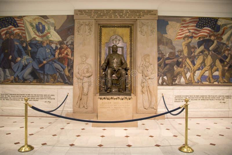 马萨诸塞状态议院里面 免版税库存照片