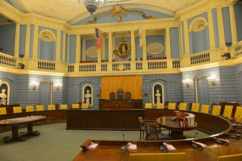 马萨诸塞状态议院,波士顿,美国 库存图片