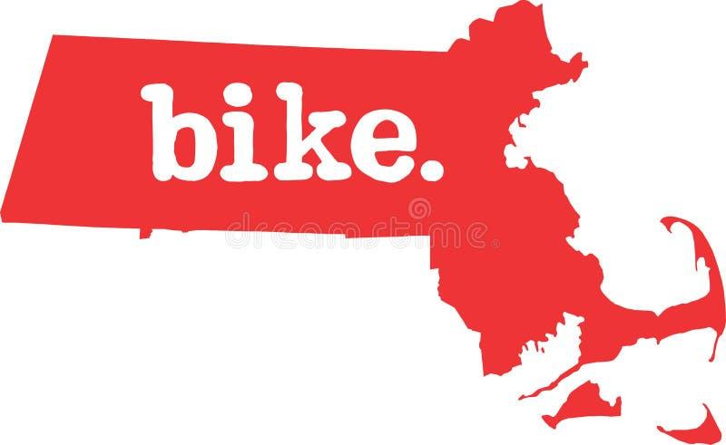 马萨诸塞自行车状态向量标志 皇族释放例证