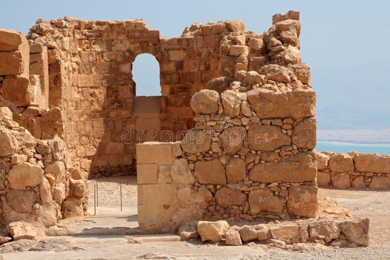 马萨达废墟-以色列 免版税图库摄影