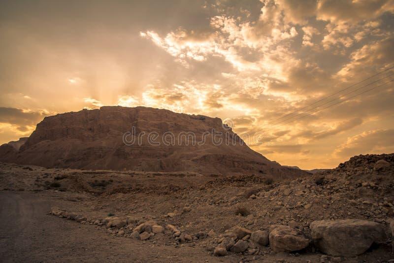 马萨达,以色列 库存图片