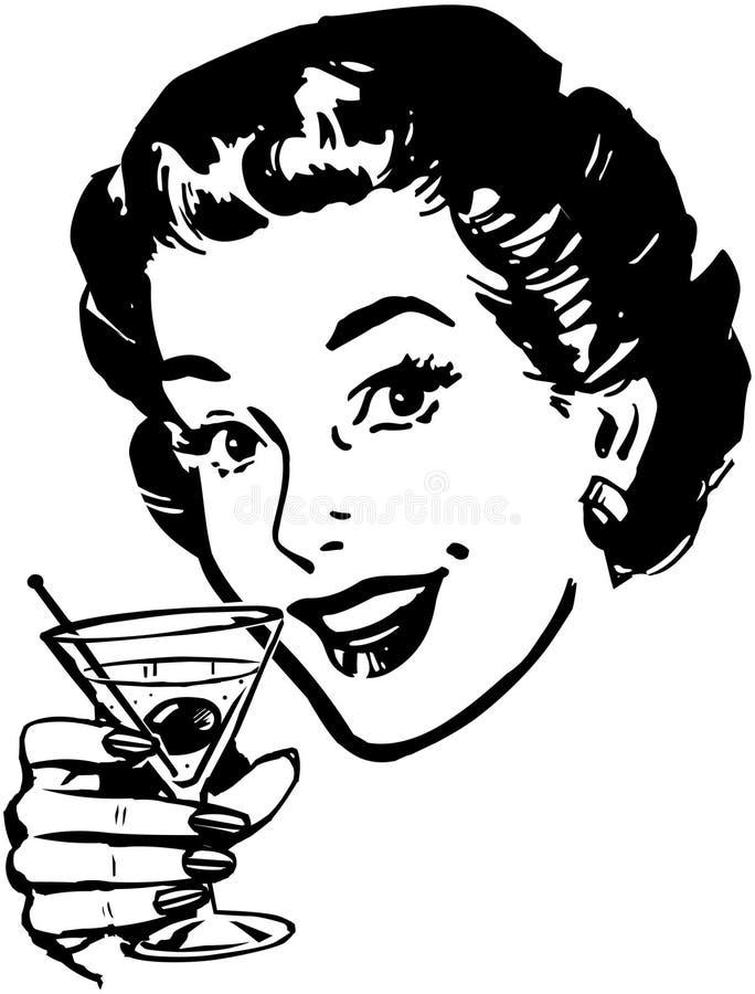 马蒂尼鸡尾酒多士 向量例证