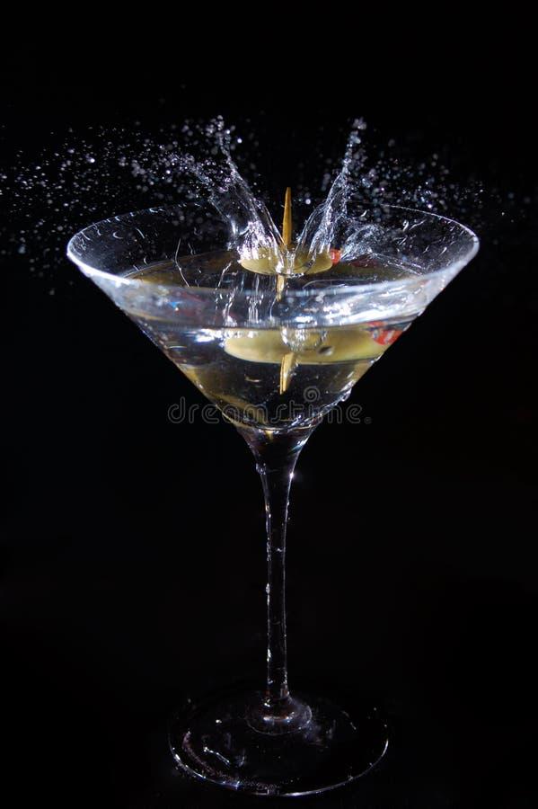 马蒂尼鸡尾酒飞溅 免版税库存照片