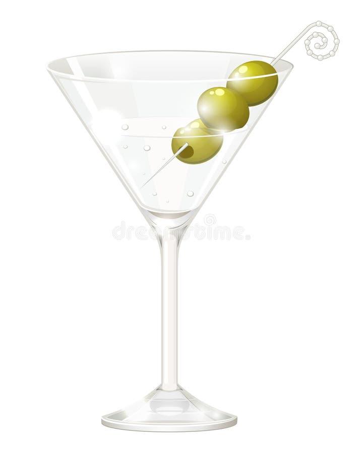 马蒂尼鸡尾酒玻璃 库存例证