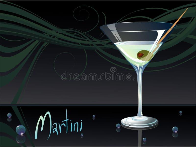 马蒂尼鸡尾酒 向量例证