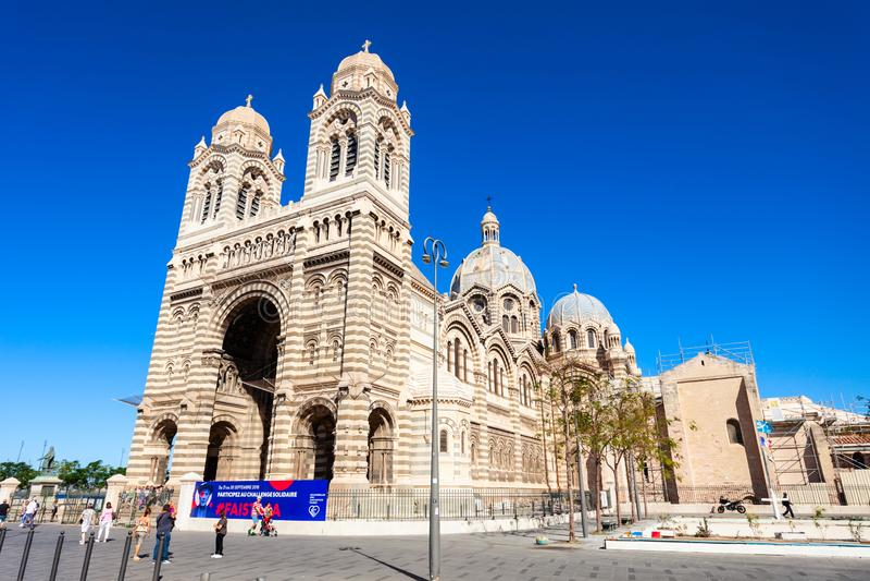 马赛主教座堂天主教会,法国 免版税库存图片