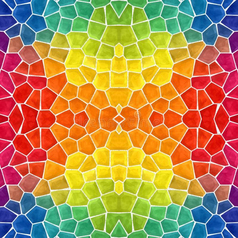 马赛克万花筒无缝的背景-色的完整色彩的彩虹光谱 向量例证