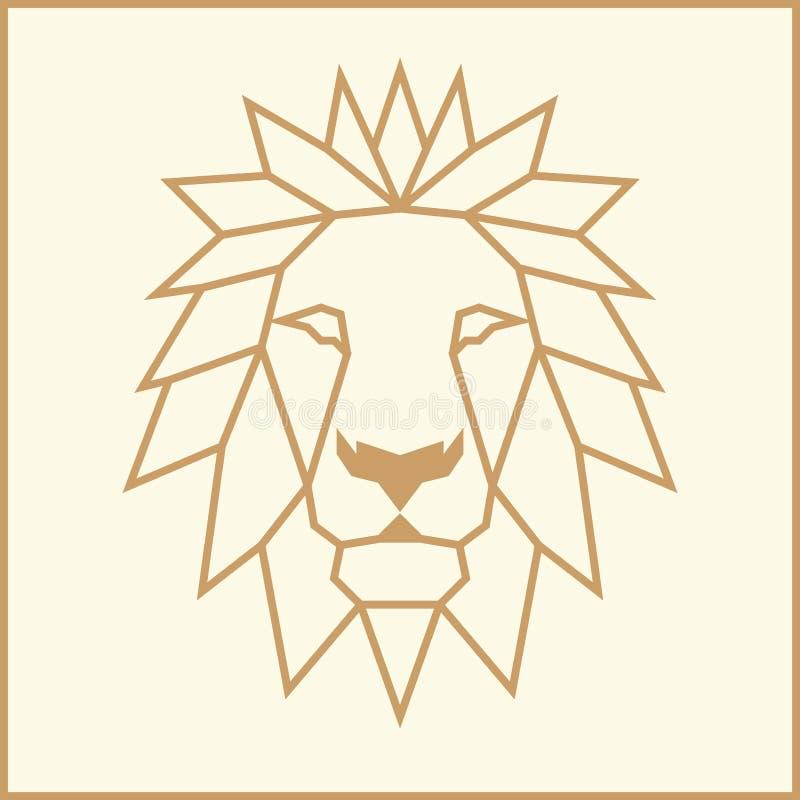 马赛克低多狮子 向量例证
