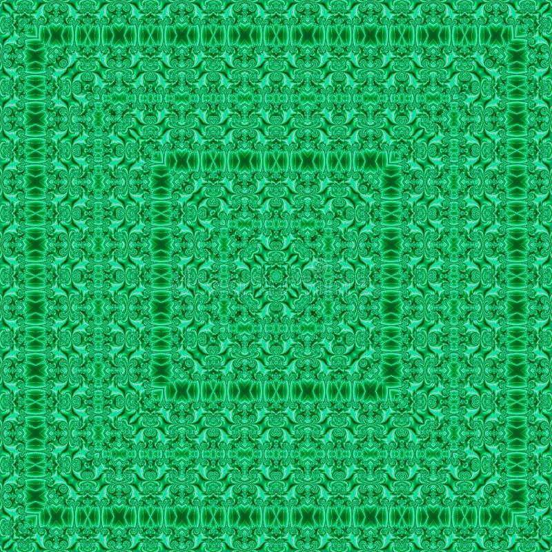 马赛克光亮的样式绿色瓦片作用丝绸 皇族释放例证