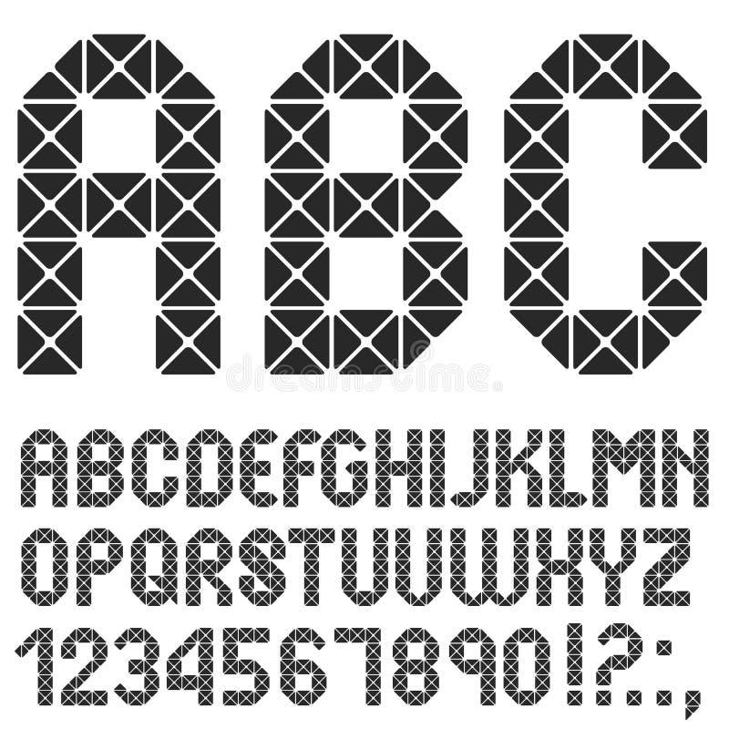 Download 马赛克原物字母表 向量例证. 插画 包括有 多角形, 独自一个, 原始, 污点, brusher, 马赛克 - 72356353
