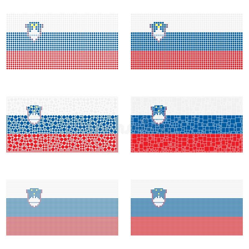 马赛克斯洛文尼亚旗子集合 向量例证