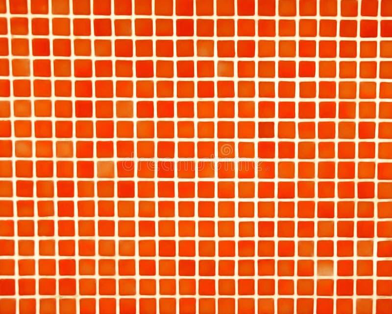 马赛克橙红 免版税库存图片