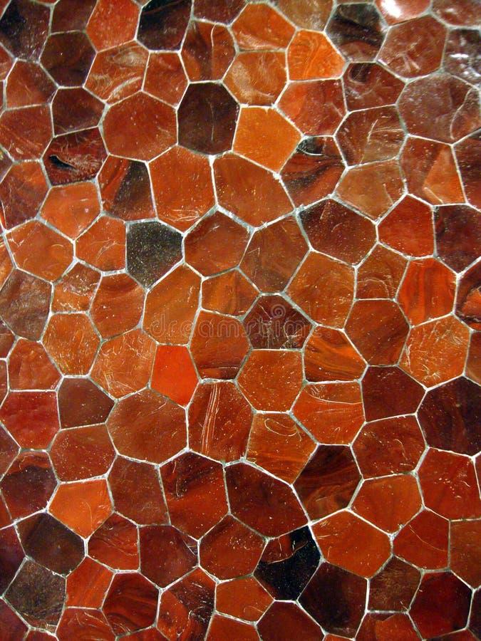 马赛克橙色模式瓦片 免版税库存照片