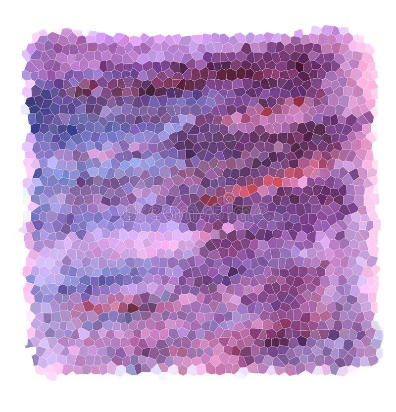 马赛克紫色梯度-紫罗兰色和蓝色颜色织地不很细背景与桃红色冲程的 向量例证