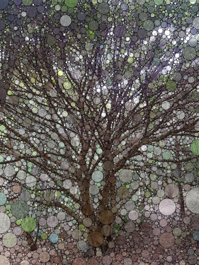 马赛克结构树 皇族释放例证