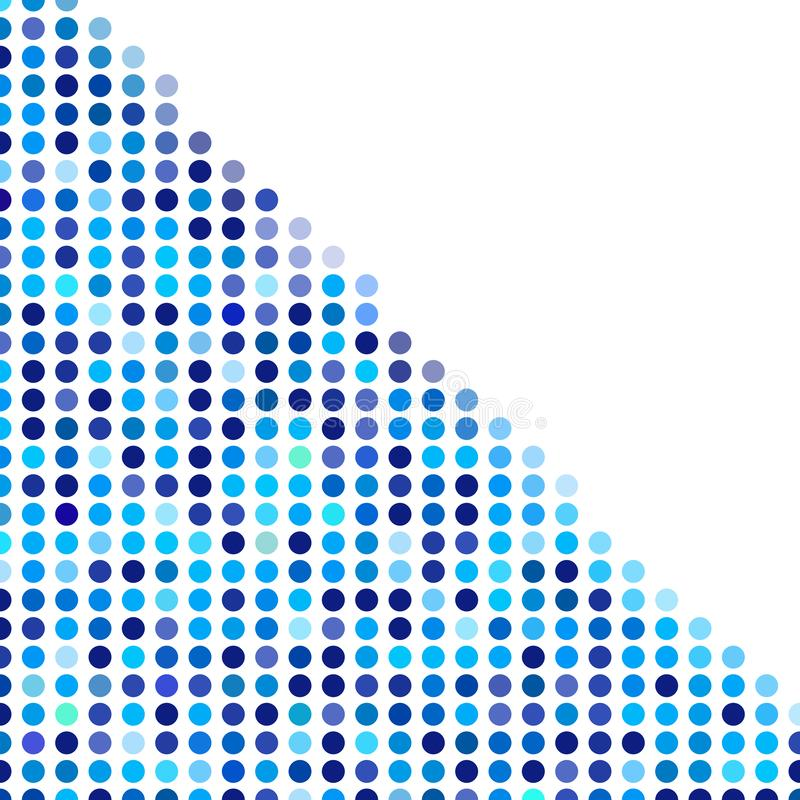 马赛克背景任意黑暗和浅兰的圈子,圆点传染媒介样式,企业techno的中立多才多艺的样式 库存例证