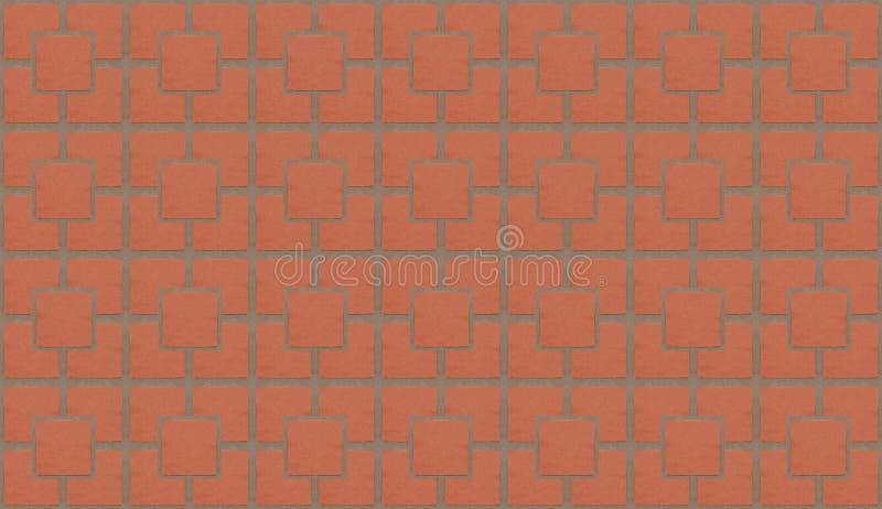 马赛克许多摆正与水泥的砖红色样式排行垂直水平,背景 向量例证