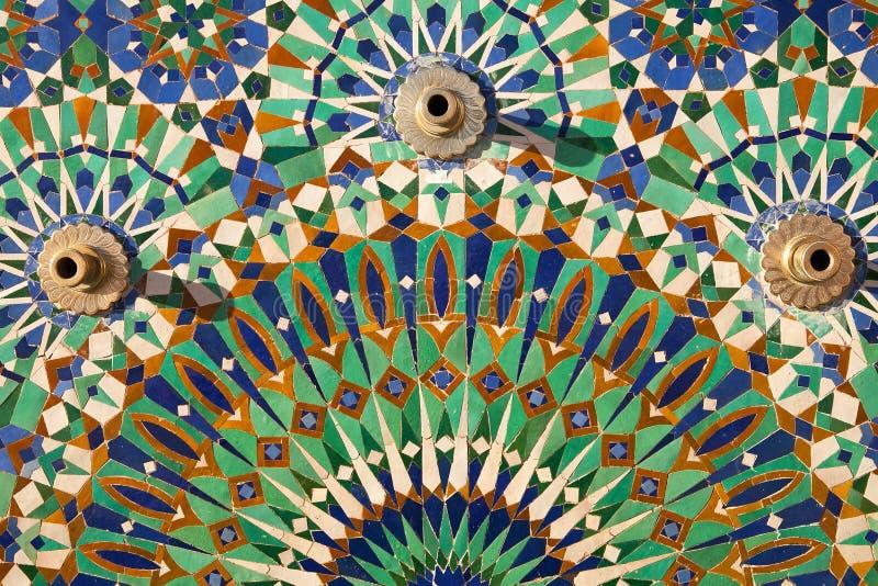 马赛克,哈桑二世清真寺,卡萨布兰卡 免版税库存图片