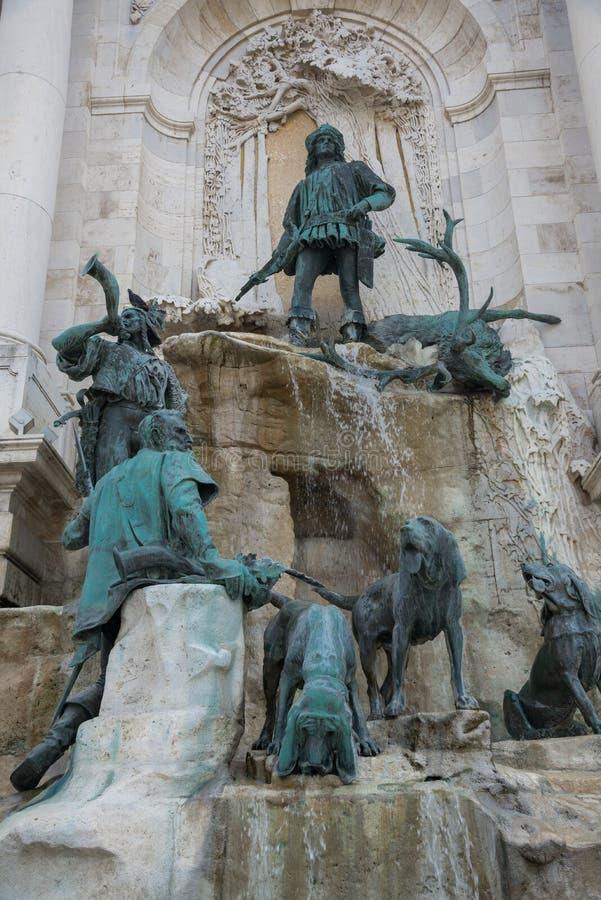 马赛厄斯喷泉布达佩斯-匈牙利 免版税库存图片