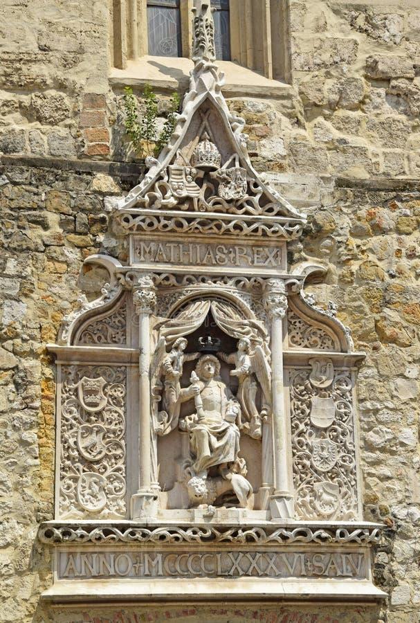 马赛厄斯国王雕象  库存照片