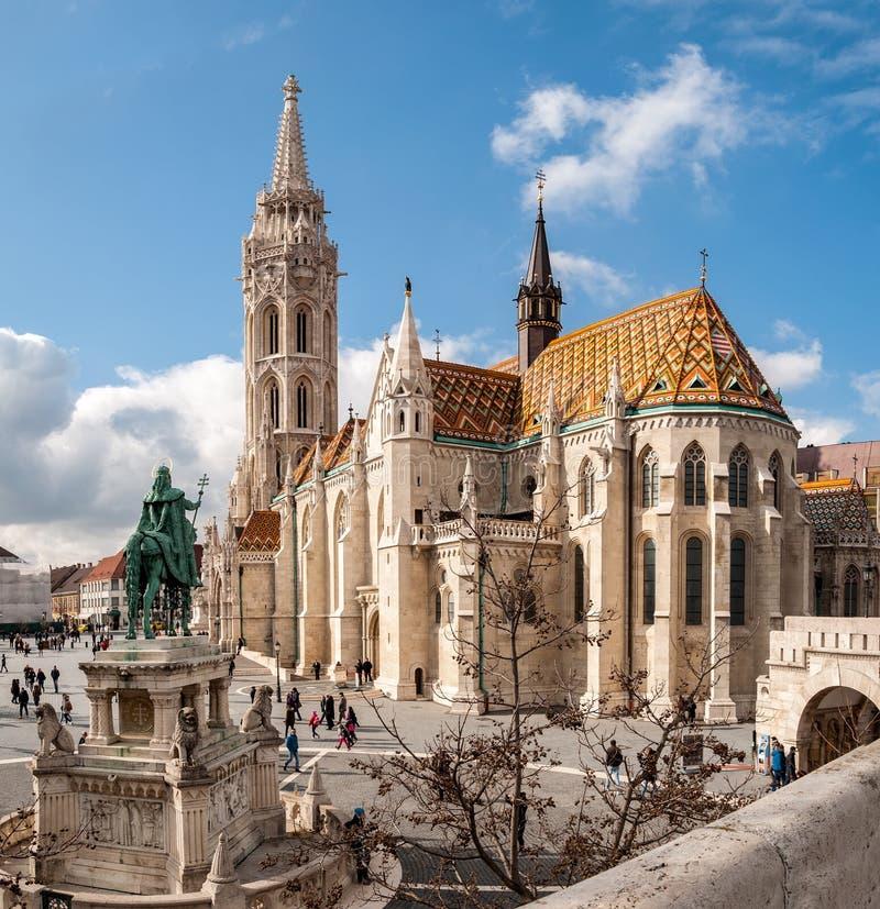 马赛厄斯教会是位于布达佩斯的天主教堂,匈牙利 免版税库存照片