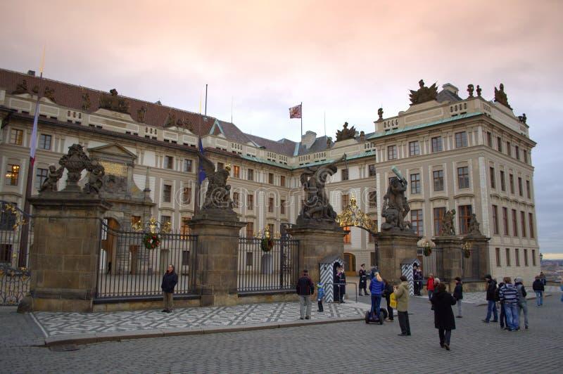 马赛厄斯门布拉格城堡 图库摄影