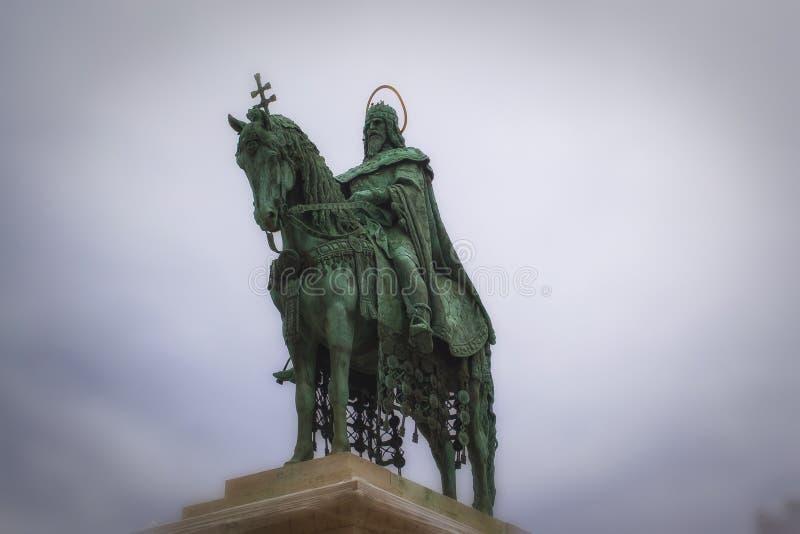 马赛厄斯,布达佩斯,匈牙利国王雕象  免版税库存照片