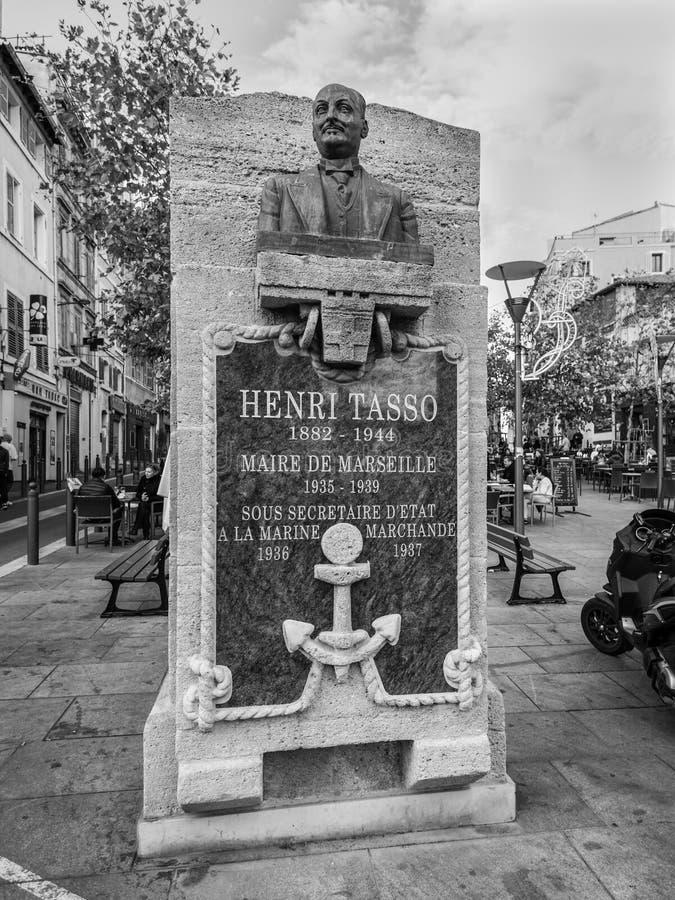 马赛老镇,法国- Henr胸象法国建筑学  图库摄影