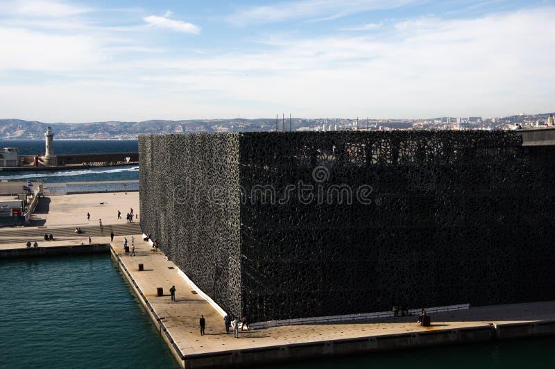 马赛,法国- 2017年4月14日:欧洲人和Medit博物馆  免版税库存照片