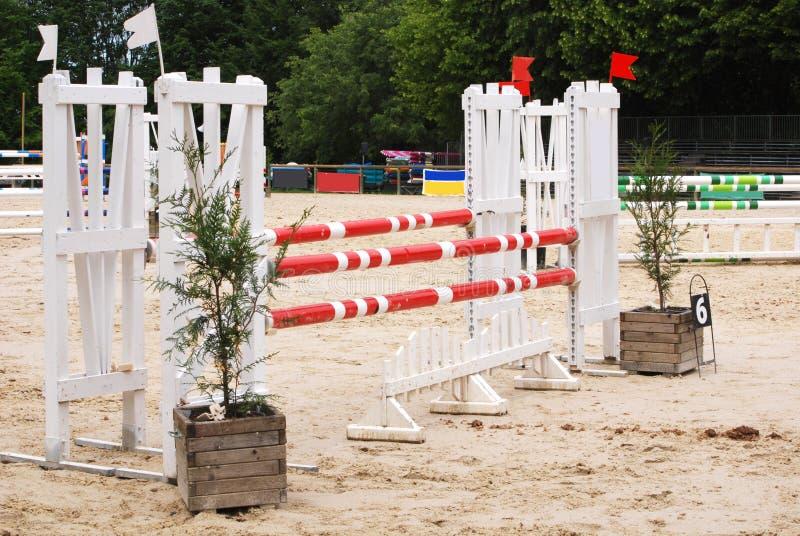 马跳跃的竞技场在勒蓬皮杜法国 库存照片