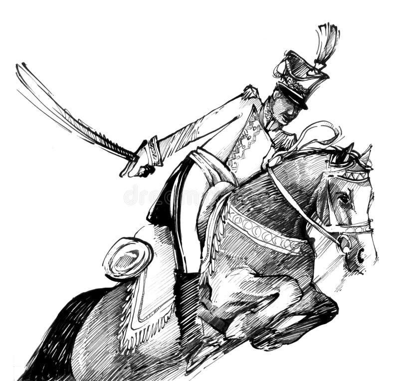 马轻骑兵 向量例证