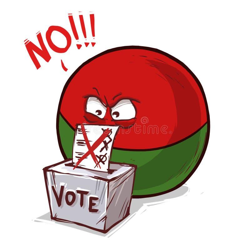 马达加斯加投反对票国家的球 向量例证