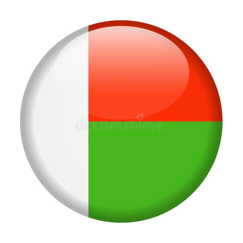 马达加斯加旗子传染媒介圆的象 库存例证
