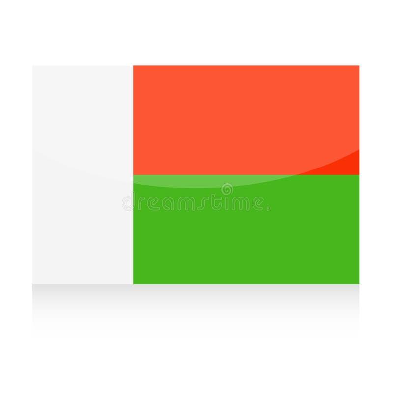马达加斯加旗子传染媒介象 向量例证
