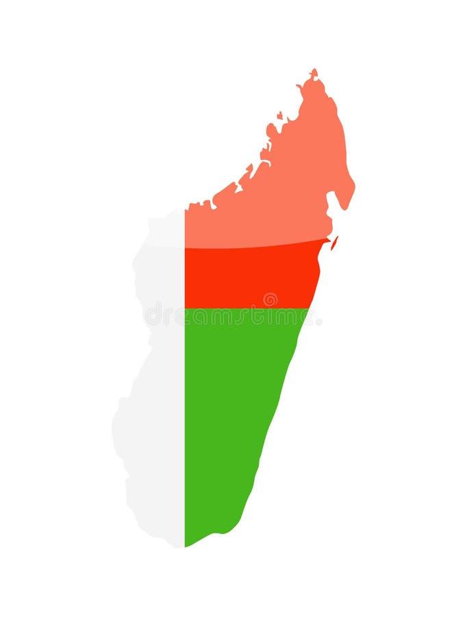 马达加斯加旗子国家等高传染媒介象 库存例证