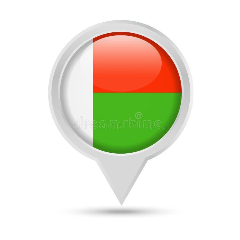 马达加斯加旗子圆的Pin传染媒介象 皇族释放例证