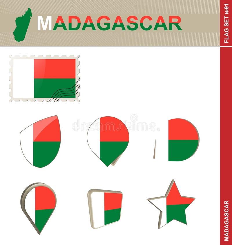马达加斯加旗子集合,旗子集合#91 皇族释放例证
